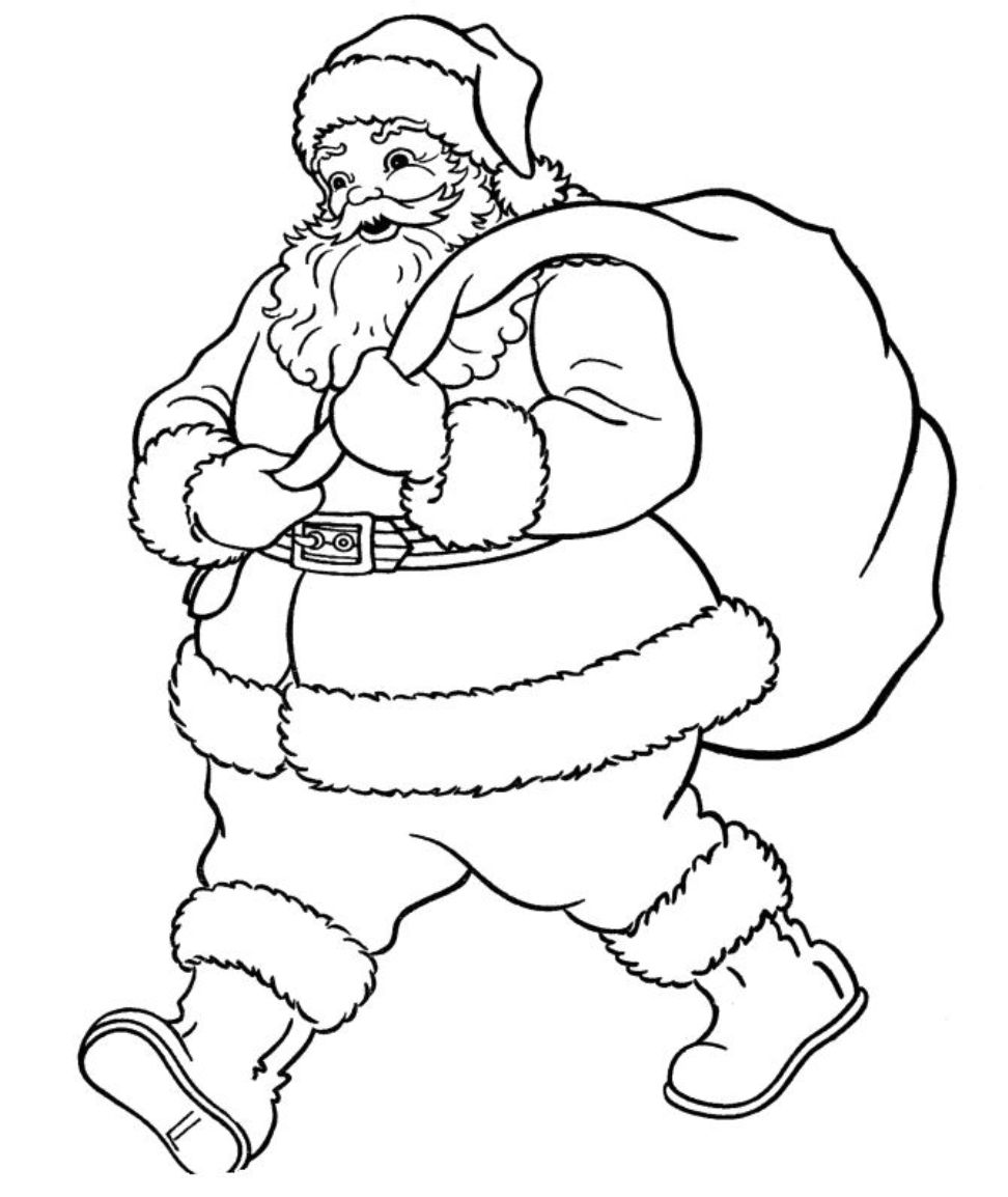 Free coloring pages of santa claus