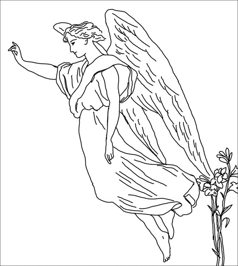 coloring pages angel - photo#11