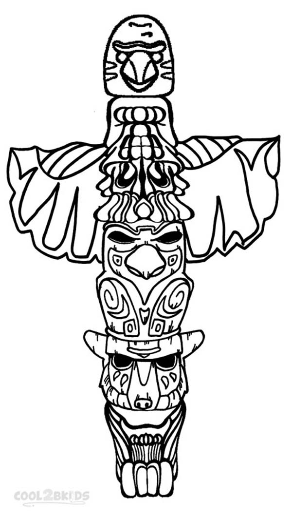 Coloring Pages Of Totem Pole
