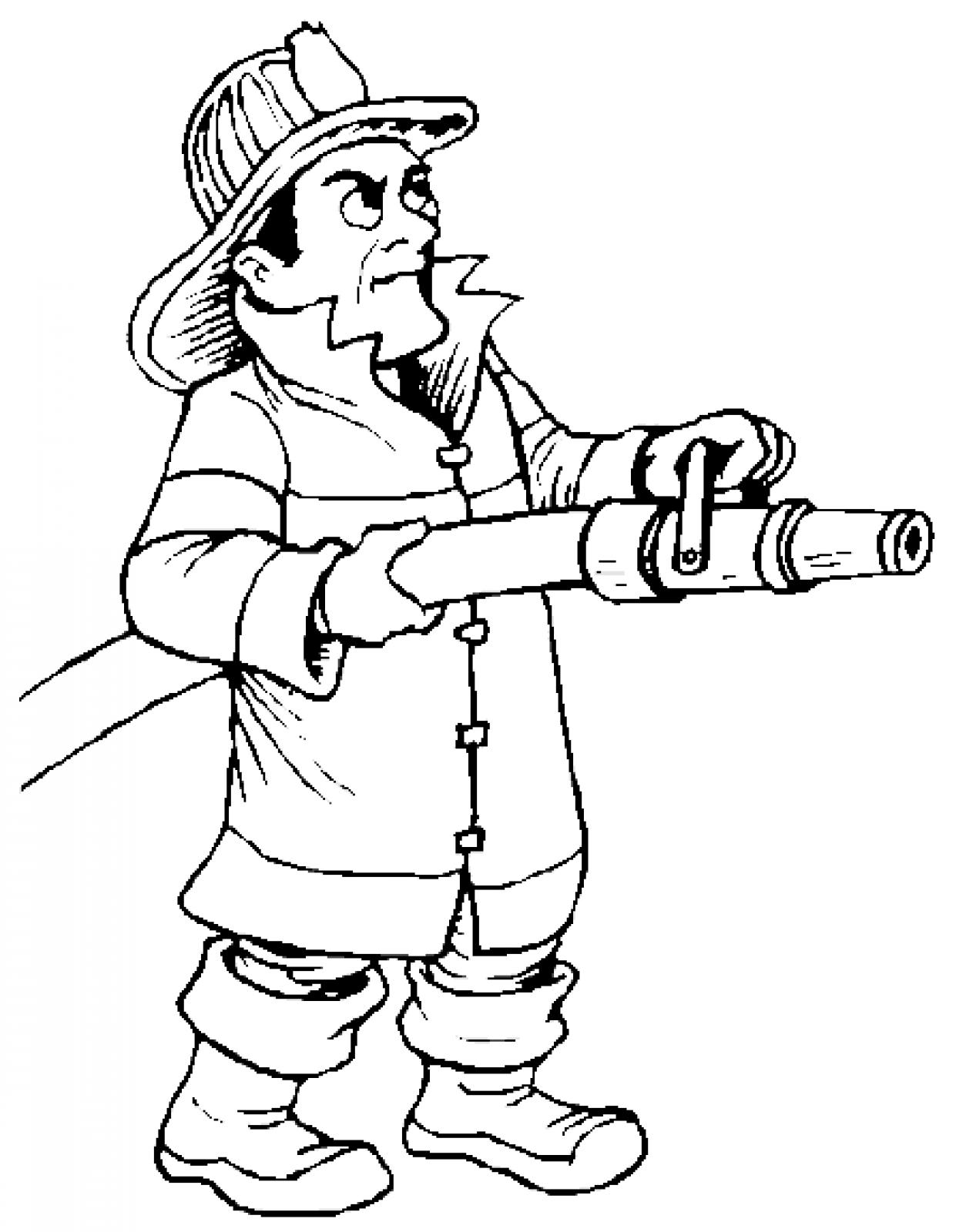 printable firefighter coloring pages coloring me Firefighter Coloring Pages for Preschool  Coloring Firefighter