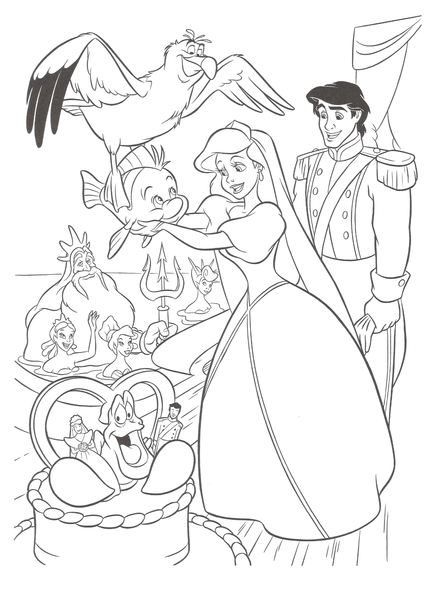 Baby disney princess characters coloring pages
